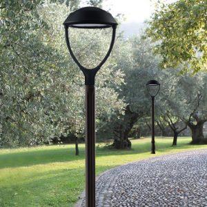 PEGASO LRP - Lanterne artistiche rotonde su palo